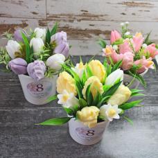"""Букет Тюльпанов """"8 марта"""". Купить мыло ручной работы в Тюмени   450 ₽"""