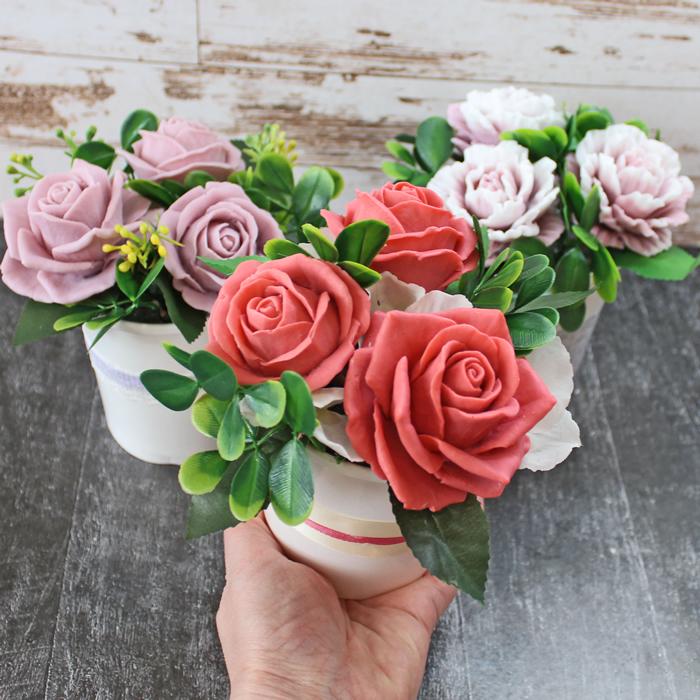 Мини композиция Розы. Заказать / купить мыло ручной работы в Тюмени  Цена от 450 ₽