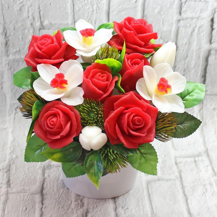 """Букет из мыла """"Космея"""" Мыло ручной работы в Тюмени – купить или заказать на MixSoap.ru Универсальный букет подойдет на день рождения, юбилей или любую памятную дату.  Цена от 1 000 ₽"""