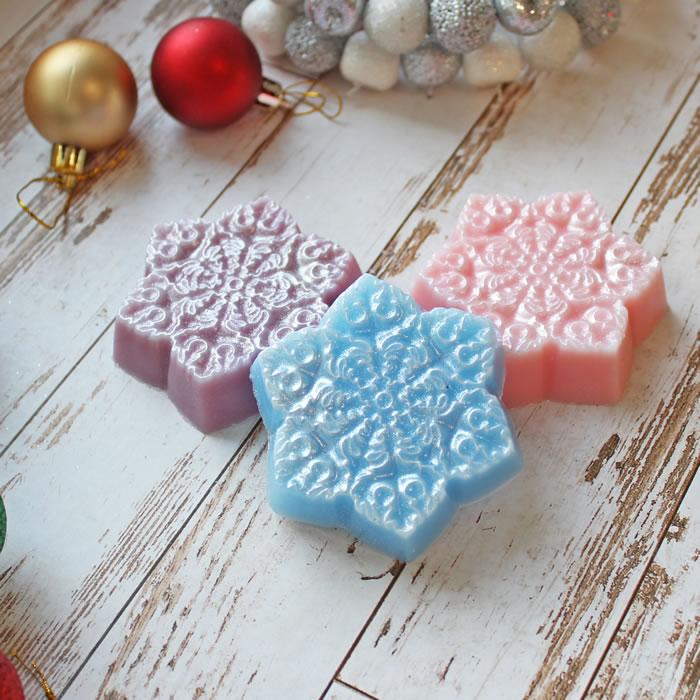 """Новый год. Подарок к новому году. Мыло """"Снежинка №1"""". Мыло ручной работы. В интернет-магазине на МихМыло  Цена от 120 ₽"""