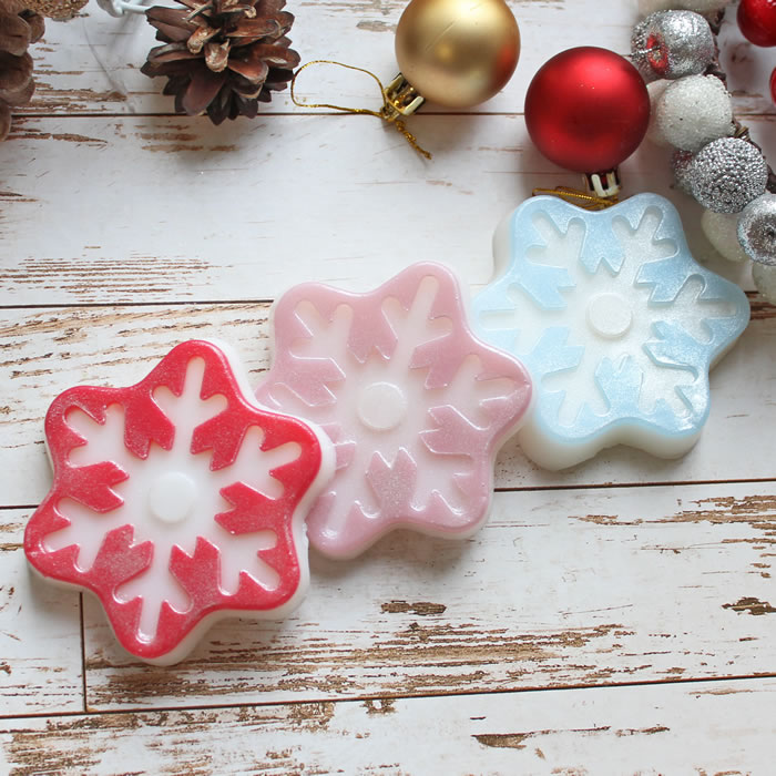 """Мыло """"Снежинка №3"""". Новый год Мыло ручной работы. Заказать купить в интернет-магазине на МихМыло  Цена от 110 ₽"""