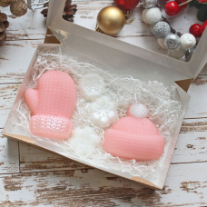 """Набор мыла """"Зимний"""". Новогоднее Мыло ручной работы. Подарки к новому году в интернет-магазине на МихМыло   Цена 400 ₽"""